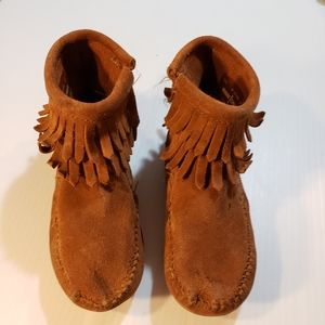 Minnetonka Leather Moccasins sz 10 Toddler Unisex